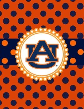 Binder Covers ~ Auburn University Collection
