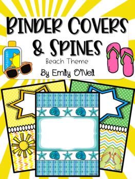 Binder Covers (Beach Theme)