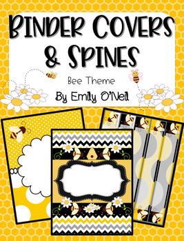 Binder Covers (Bee Theme)