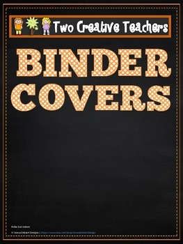 Binder Covers Blank Chalkboard Theme