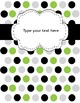 Binder Covers Blank with Polka Dots: