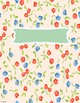 Binder Covers! Blue and colorful