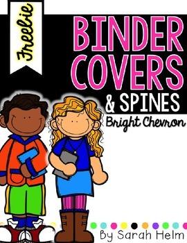 Binder Covers--Bright Chevron {editable}