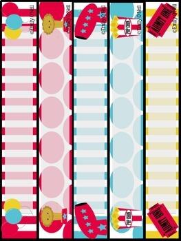 Binder Covers (Bright Circus Theme)