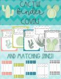 Binder Covers- Cactus- Editable!
