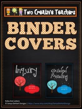 Binder Covers Chalkboard Theme