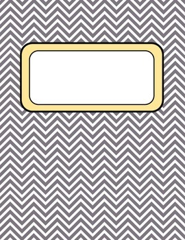 Binder Covers Chevron