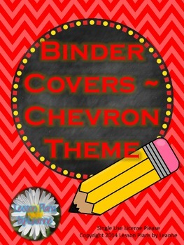Binder Covers (Chevron Theme)  Back To School