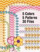 Binder Covers - Chevrons & Flowers Backgrounds – 30pp PDF