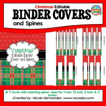 EDITABLE Binder Covers and Spines {Stylish Christmas Themed)