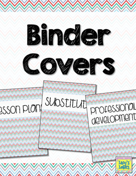 Binder Covers - Colorful Chevron
