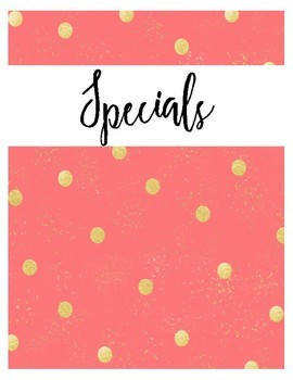Binder Covers Pack Coral {Editable}