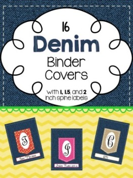 Binder Covers ~ Denim