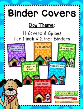 Binder Covers - Dog Theme