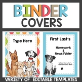 Binder Covers Dog Themed