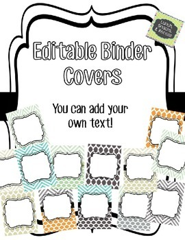 Binder Covers - EDITABLE