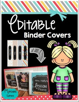 Binder Covers EDITABLE Lesson Plans - Substitute - All Subjects