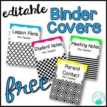Binder Covers ~Editable~