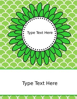 Binder Covers - 12 Editable Covers