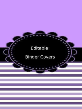 Binder Covers - Editable