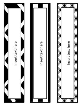 Binder Covers - *Editable* - Black and White