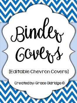 Binder Covers {Editable Chevron}