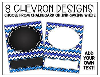 Binder Covers - Editable - Chevron and Chalkboard