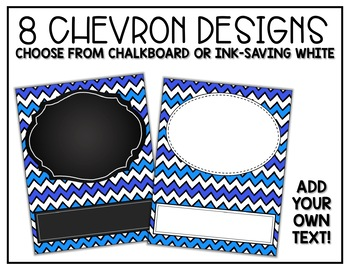 Binder Covers and Spines EDITABLE Chevron and Chalkboard