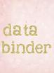 Binder Covers - Editable Gold Bokeh and Blush Watercolor