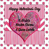 Valentine Binder Covers Editable