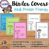 Binder Covers {Editable & Ink-Friendly}