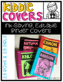 Binder Covers : Editable Kiddie Covers