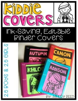Binder Covers : Editable Kiddie Covers