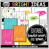 Binder Covers - Editable {Matching Spines and Labels}