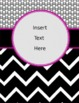 Binder Covers - *Editable* - Neon and Black