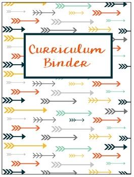 Binder Covers Editable Tribal Arrows