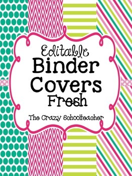 Binder Covers {FRESH}