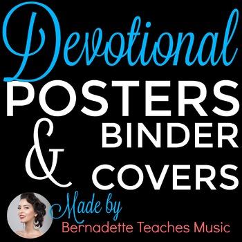 Binder Covers & Frameables: Inspirational Scriptures for Educators
