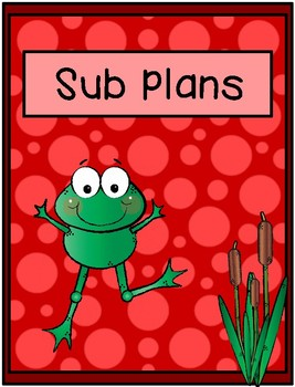 Binder Covers - Frog Theme