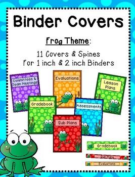 Binder Covers - Frog Theme