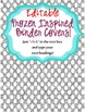 Binder Covers - Frozen Inspired - Premade & Editable