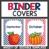 Binder Covers Gingham Classroom decor