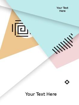 Binder Covers Giometrical Style Editable Set