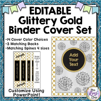 All That Glitters Gold Binder Covers, Backs and Spines (ED
