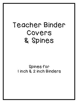 Binder Covers - Kids Theme