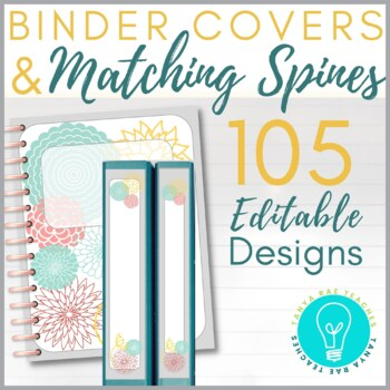 Binder Covers & Matching Spines - Editable (105 Designs)