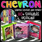Binder Covers - Editable {Chevron Kidlettes Edition Edition}