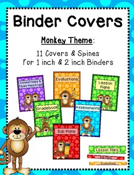 Binder Covers - Monkey Theme