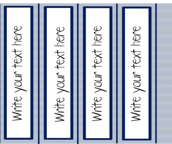 Binder Covers Navy and White {Ink Friendly}