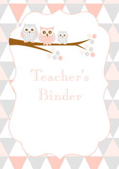 Binder Covers (Owl Theme)